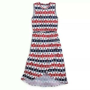 Disney Parks Dress Americana  Sleeveless Flag USA